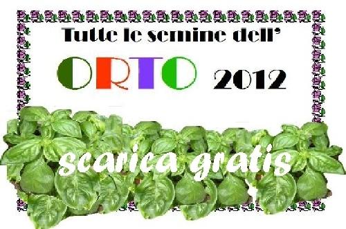 Calendario Trapianti Orto Pdf.Scarica Gratis Tutte Le Semine Dell Orto E Book Pdf Omaggio